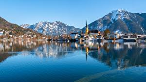 Wallpapers Germany Mountain Lake Bavaria Tegernsee, Rottach-Egern Cities