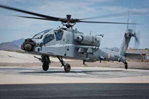 Fotos Hubschrauber AH-64 Apache Abheben  Luftfahrt