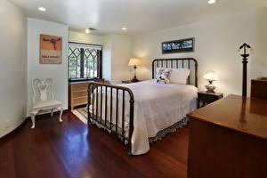 Fotos Innenarchitektur Design Schlafkammer Bett Lampe