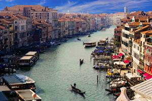 Bilder Italien Boot Haus Venedig Kanal Canale Grande Städte