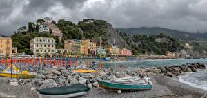 Fotos Italien Haus Küste Boot Felsen Strände Monterosso Städte
