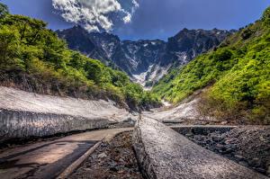 Bilder Japan Gebirge Wälder Wege Tanigawa