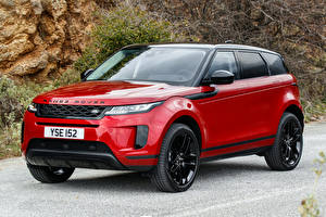 Hintergrundbilder Land Rover Rot Metallisch Crossover 2019 Evoque D240 S Black Pack Worldwide Autos
