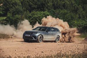 Hintergrundbilder Land Rover Grau Softroader 2019 Velar SVAutobiography Dynamic Edition Worldwide Autos