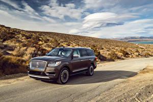 Hintergrundbilder Lincoln Braunes 2018 Navigator Black Label Autos