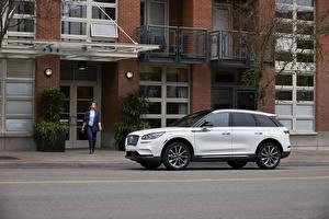 Hintergrundbilder Lincoln Weiß Seitlich 2020 Corsair auto