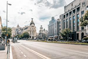 Fotos Madrid Spanien Haus Straße Straße Städte