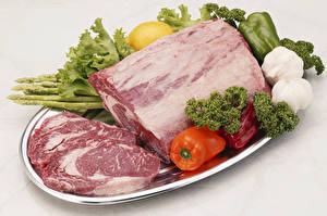 Fondos de escritorio Productos càrnicos Verdura Pimiento Ajo Carne de puerco