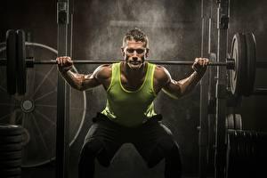Fonds d'écran Homme Bodybuilding Débardeur Barre à disques