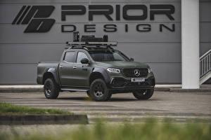 Fotos Mercedes-Benz Grün Pick-up 2018-19 Prior-Design PD550 Widebody Aerodynamik-Kit automobil