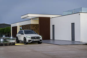 Hintergrundbilder Mercedes-Benz Weiß Metallisch 2019 AMG GLC 63 S 4MATIC Worldwide