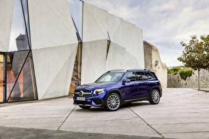 Wallpapers Mercedes-Benz Blue Metallic 2019 GLB 250 AMG Line Worldwide automobile