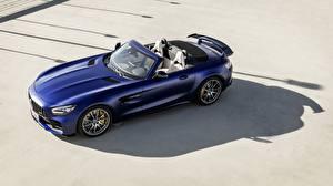 Hintergrundbilder Mercedes-Benz Blau Roadster AMG GT R 2019