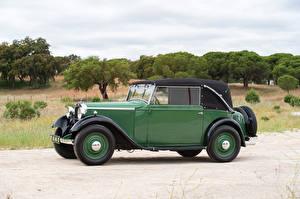 Bilder Mercedes-Benz Retro Grün Metallisch Cabrio Seitlich 1934-35 170 Cabriolet C Autos