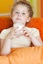 Wallpaper Milk Little girls Highball glass Children