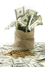 Hintergrundbilder Geld Geldscheine Münze Dollars Weißer hintergrund