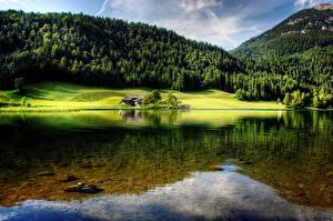 Fotos Berg Wald Österreich See Landschaftsfotografie Hintersteinersee lake, Tyrol Natur