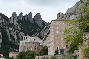 Fotos Gebirge Kloster Spanien Felsen Montserrat, Catalonia Städte