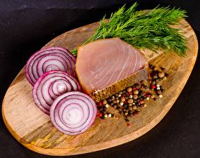 Picture Onion Seasoning Fish - Food Dill Cutting board Sliced food