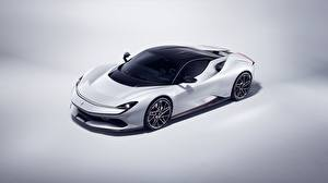 Wallpaper Pininfarina White 2019 Battista