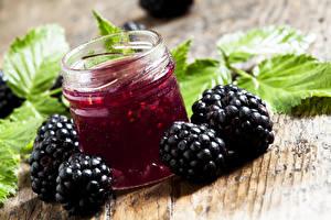 Photo Varenye Blackberry Jar Food