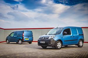 Bilder Renault Zwei Hellblau 2013-19 Kangoo Autos