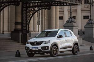 Hintergrundbilder Renault Weiß Metallisch 2018-19 Kwid Outsider Latam