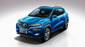 Bilder Renault Grauer Hintergrund Hellblau 2019 City K-ZE Autos