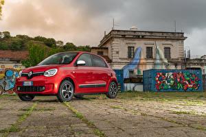 Tapety na pulpit Renault Czerwony Metaliczna 2019 Twingo Worldwide samochód