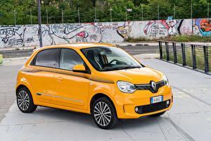 Papel de Parede Desktop Renault Amarelo Metálico 2019 Twingo Worldwide carro