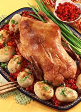 Bilder Hühnerbraten Kartoffel