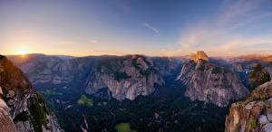 Image Landscape photography Mountains Sky Forests USA Yosemite