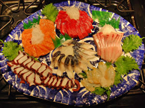 Fotos Meeresfrüchte Fische - Lebensmittel Geschnitten