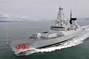 Bilder Schiffe HMS Dragon Royal Navy Type 45 destroyer Heer