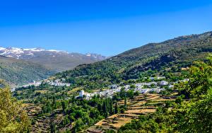 Hintergrundbilder Spanien Haus Acker Dorf Hügel Alpujarras Granada Städte