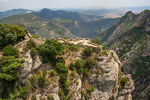 Bilder Spanien Gebirge Felsen Catalonia, Pyrenees Natur