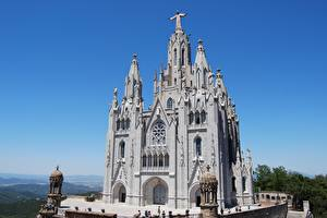Fotos Spanien Tempel Barcelona Mount Tibidabo, Catalonia, Temple Of The Sacred Heart