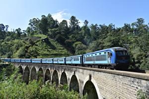 Wallpaper Sri Lanka Bridges Trains