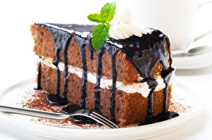 Wallpaper Sweets Cake Chocolate Fork Food