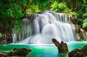 Sfondi desktop Thailandia Parco Cascata Natura