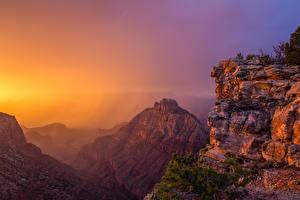 Fotos USA Grand Canyon Park Parks Berg Sonnenaufgänge und Sonnenuntergänge
