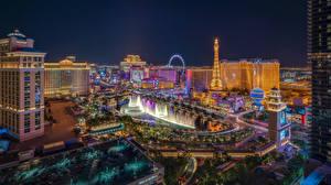 Hintergrundbilder Vereinigte Staaten Haus Springbrunnen Las Vegas Nacht Städte