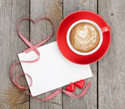 Photo Valentine's Day Cappuccino Boards Heart Cup Template greeting card