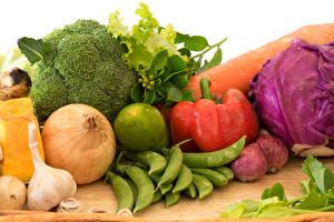 Bilder Gemüse Paprika Zwiebel Grüne Erbsen Knoblauch Lebensmittel