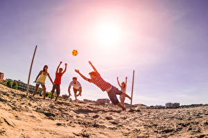 Fotos Ball Sand Strand Volleyball Sport