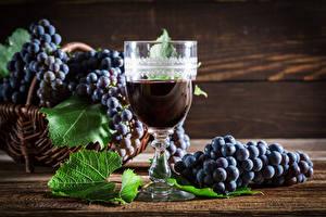 Picture Wine Grapes Stemware Food