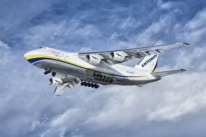 Bilder Flugzeuge Transportflugzeuge Flug Antonov An-124-100