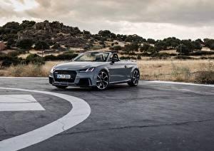 Фотография Audi Серый Кабриолет Quattro RS TT машина