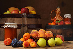 Images Cask Jam Pears Plums Apricot Bottle Jar