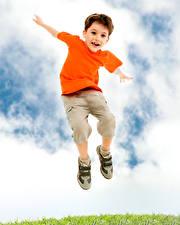 Fotos & Bilder Junge Sprung Kinder
